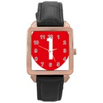New Zealand State Highway 1 Rose Gold Leather Watch  Front