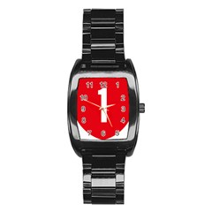 New Zealand State Highway 1 Stainless Steel Barrel Watch by abbeyz71