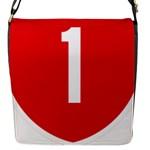 New Zealand State Highway 1 Flap Messenger Bag (S)