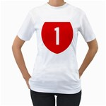 New Zealand State Highway 1 Women s T-Shirt (White)  Front