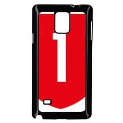 New Zealand State Highway 1 Samsung Galaxy Note 4 Case (black)