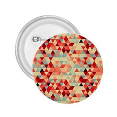 Modern Hipster Triangle Pattern Red Blue Beige 2 25  Buttons by EDDArt
