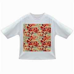 Modern Hipster Triangle Pattern Red Blue Beige Infant/toddler T Shirts