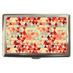 Modern Hipster Triangle Pattern Red Blue Beige Cigarette Money Cases Front
