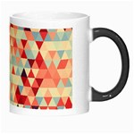Modern Hipster Triangle Pattern Red Blue Beige Morph Mugs Right