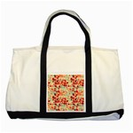 Modern Hipster Triangle Pattern Red Blue Beige Two Tone Tote Bag Front