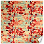 Modern Hipster Triangle Pattern Red Blue Beige Canvas 12  x 12
