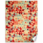 Modern Hipster Triangle Pattern Red Blue Beige Canvas 18  x 24   24 x18 Canvas - 1