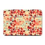 Modern Hipster Triangle Pattern Red Blue Beige Small Doormat  24 x16 Door Mat - 1