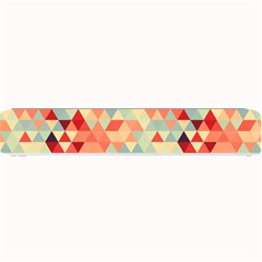 Modern Hipster Triangle Pattern Red Blue Beige Small Bar Mats by EDDArt