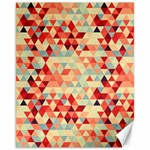 Modern Hipster Triangle Pattern Red Blue Beige Canvas 11  x 14   14 x11 Canvas - 1