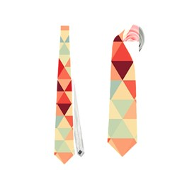 Modern Hipster Triangle Pattern Red Blue Beige Neckties (two Side)