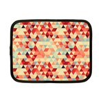Modern Hipster Triangle Pattern Red Blue Beige Netbook Case (Small)  Front
