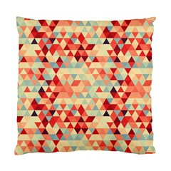 Modern Hipster Triangle Pattern Red Blue Beige Standard Cushion Case (one Side) by EDDArt