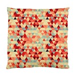 Modern Hipster Triangle Pattern Red Blue Beige Standard Cushion Case (One Side) Front
