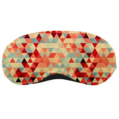 Modern Hipster Triangle Pattern Red Blue Beige Sleeping Masks by EDDArt