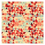 Modern Hipster Triangle Pattern Red Blue Beige Small Memo Pads 3.75 x3.75  Memopad