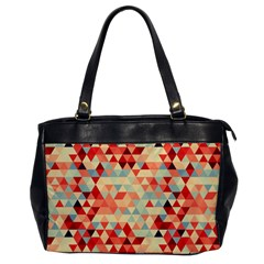 Modern Hipster Triangle Pattern Red Blue Beige Office Handbags