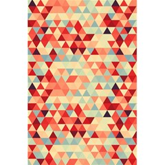 Modern Hipster Triangle Pattern Red Blue Beige 5 5  X 8 5  Notebooks