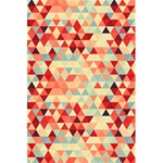 Modern Hipster Triangle Pattern Red Blue Beige 5.5  x 8.5  Notebooks Back Cover