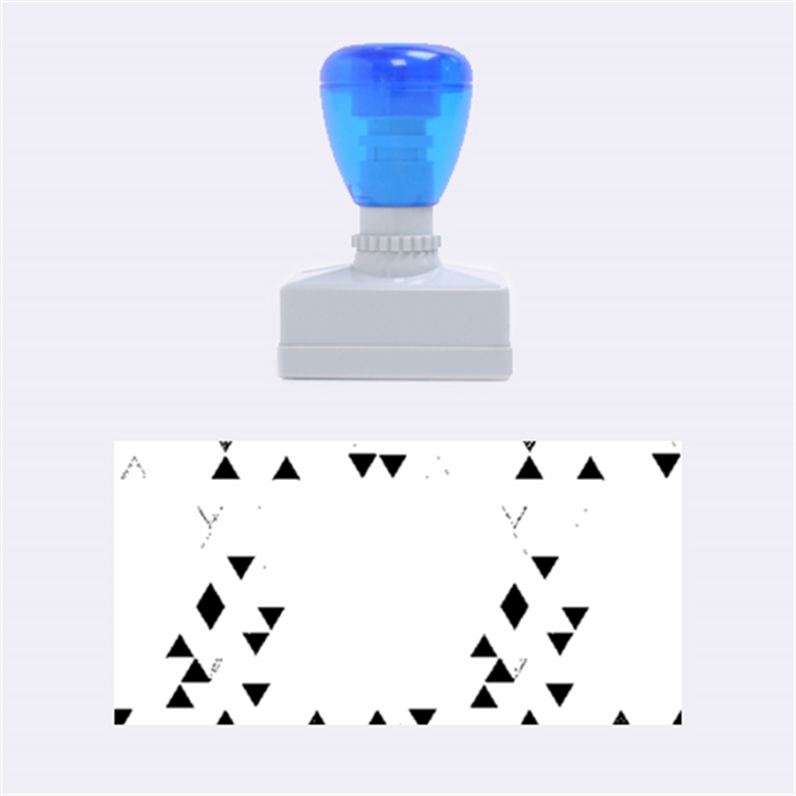 Modern Hipster Triangle Pattern Red Blue Beige Rubber Stamps (Medium)