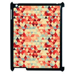 Modern Hipster Triangle Pattern Red Blue Beige Apple Ipad 2 Case (black)