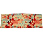Modern Hipster Triangle Pattern Red Blue Beige Body Pillow Case Dakimakura (Two Sides) Back