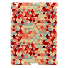 Modern Hipster Triangle Pattern Red Blue Beige Apple Ipad 3/4 Hardshell Case (compatible With Smart Cover) by EDDArt