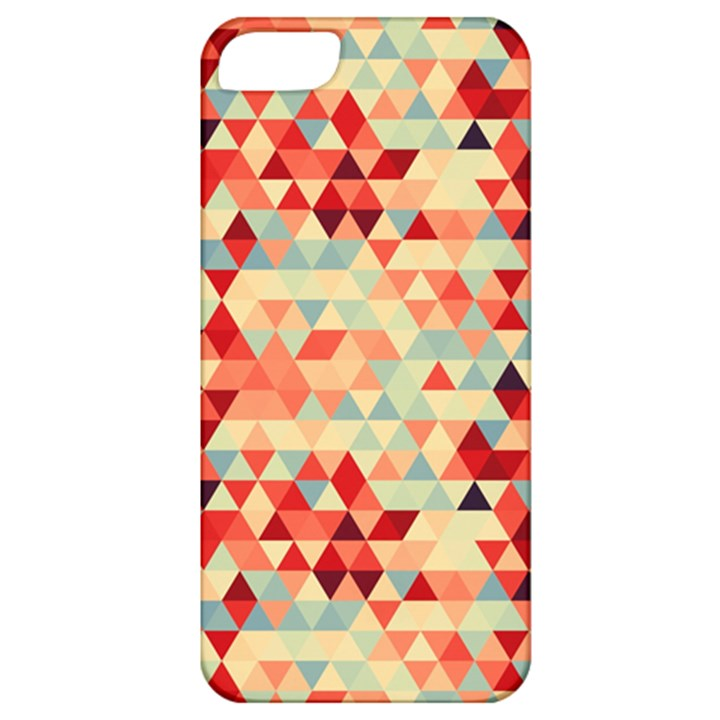 Modern Hipster Triangle Pattern Red Blue Beige Apple iPhone 5 Classic Hardshell Case