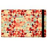Modern Hipster Triangle Pattern Red Blue Beige Apple iPad 3/4 Flip Case