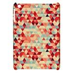 Modern Hipster Triangle Pattern Red Blue Beige Apple iPad Mini Hardshell Case