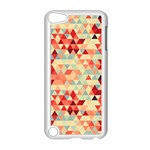 Modern Hipster Triangle Pattern Red Blue Beige Apple iPod Touch 5 Case (White) Front