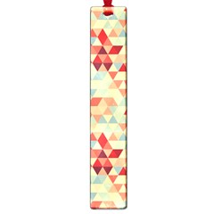 Modern Hipster Triangle Pattern Red Blue Beige Large Book Marks