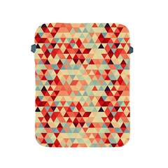 Modern Hipster Triangle Pattern Red Blue Beige Apple Ipad 2/3/4 Protective Soft Cases by EDDArt