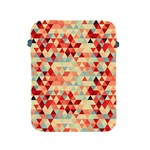 Modern Hipster Triangle Pattern Red Blue Beige Apple iPad 2/3/4 Protective Soft Cases Front