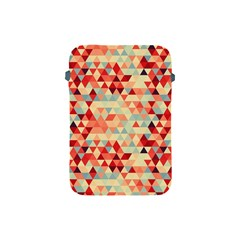 Modern Hipster Triangle Pattern Red Blue Beige Apple Ipad Mini Protective Soft Cases