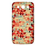 Modern Hipster Triangle Pattern Red Blue Beige Samsung Galaxy Mega 5.8 I9152 Hardshell Case