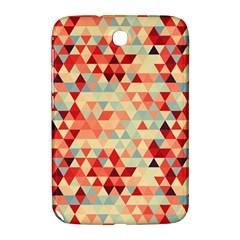 Modern Hipster Triangle Pattern Red Blue Beige Samsung Galaxy Note 8 0 N5100 Hardshell Case  by EDDArt