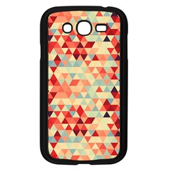 Modern Hipster Triangle Pattern Red Blue Beige Samsung Galaxy Grand Duos I9082 Case (black) by EDDArt