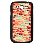 Modern Hipster Triangle Pattern Red Blue Beige Samsung Galaxy Grand DUOS I9082 Case (Black) Front