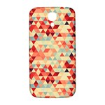 Modern Hipster Triangle Pattern Red Blue Beige Samsung Galaxy S4 I9500/I9505  Hardshell Back Case Front