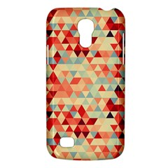 Modern Hipster Triangle Pattern Red Blue Beige Galaxy S4 Mini