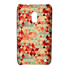 Modern Hipster Triangle Pattern Red Blue Beige Nokia Lumia 620
