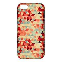 Modern Hipster Triangle Pattern Red Blue Beige Apple Iphone 5c Hardshell Case by EDDArt