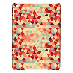 Modern Hipster Triangle Pattern Red Blue Beige Ipad Air Hardshell Cases by EDDArt
