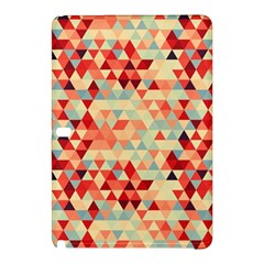 Modern Hipster Triangle Pattern Red Blue Beige Samsung Galaxy Tab Pro 10 1 Hardshell Case