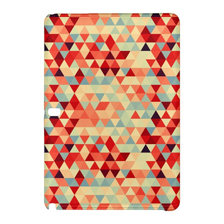 Modern Hipster Triangle Pattern Red Blue Beige Samsung Galaxy Tab Pro 10.1 Hardshell Case