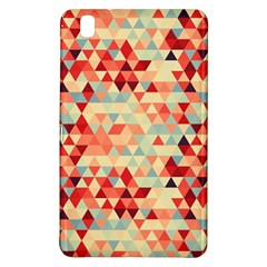Modern Hipster Triangle Pattern Red Blue Beige Samsung Galaxy Tab Pro 8 4 Hardshell Case by EDDArt