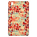 Modern Hipster Triangle Pattern Red Blue Beige Samsung Galaxy Tab Pro 8.4 Hardshell Case