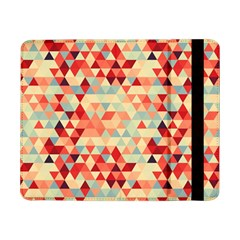 Modern Hipster Triangle Pattern Red Blue Beige Samsung Galaxy Tab Pro 8 4  Flip Case by EDDArt